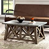 Better Homes and Gardens Modern Coffee Table, (42.90 x 23.00 x 18.25 Inches Farmhouse, Brown, DARK BROWN) + Handi Wipes