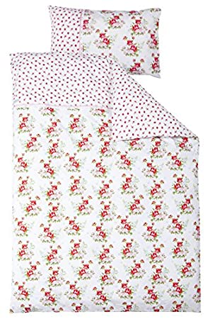 Poco holandés 1780 ropa de cama colour blanco rosas: Amazon ...