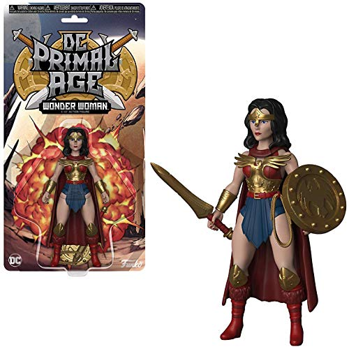 Wonder Woman: Funko DC Primal Age Mini Action Figure + 1 Official DC Trading Card Bundle [32695]