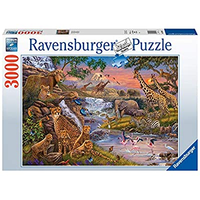 Ravensburger 16465 Animal Kingdom 3000 Piece Puzzle for Adults - Every Piece is Unique, Softclick Technology Means Pieces Fit Together Perfectly: Toys & Games