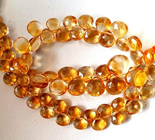 - Natural Citrine Faceted Heart Shaped Beads,AAA+++ Quality Beautiful Gemstone,4.5 mm to 9 mm Approx.9