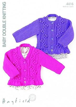 Amazon Hayfield Baby Cardigans Knitting Pattern 4416 Dk Home