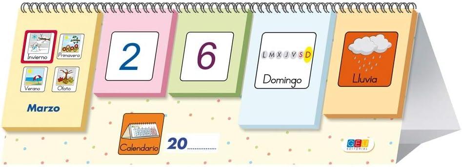 Picto-calendario / Editorial GEU / Recomendado a partir de 3 años/ Aprende jugando / Construye secuencias estacionales / Tarjetas móviles: Editorial GEU: Amazon.es: Oficina y papelería