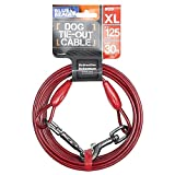 BV BV-PE-TC-30FT-RD 125 lbs Pet Tie Out Cable for Dog
