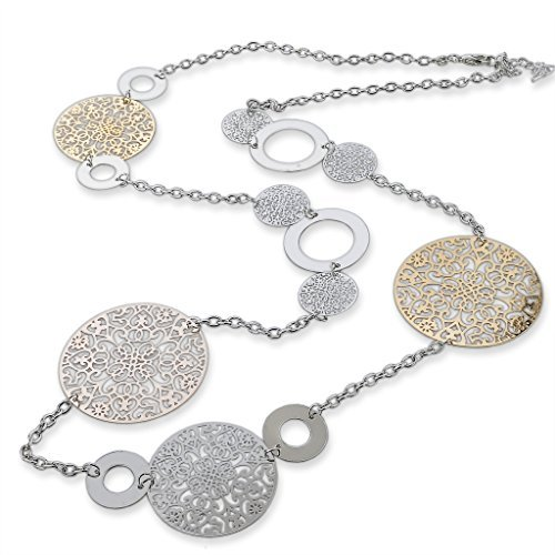 Long Way Vintage Long Statement Necklace Real Gold Silver Plated Round Flower Women Necklaces & Pendants Fashion Jewelry