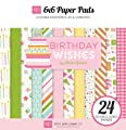 Echo Park Birthday Wishes Girl 6x6 Scrapbook Paper Pad