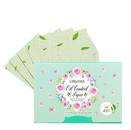 2 Pcs Green Tea Extract Oil Control Blotting Paper Absorbing Tissues by Panda Superstore