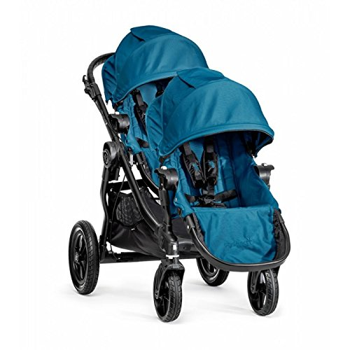 Baby Jogger City Select Single Black Frame Stroller with Second Seat - Teal