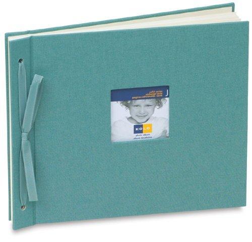 'Newbury' Ivory/white tied cloth scrapbook type album 8¾x10¼ by Kolo - (White Cloth Album)