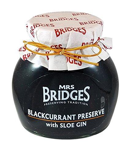 Mrs Bridges Preserve with Sloe Gin, Blackcurrant, 12 Ounce