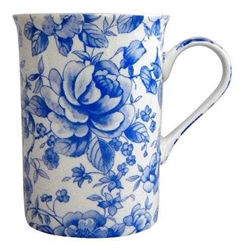 China Patterns Chintz (Heath Mccabe Blue Rose Chatsworth English Chintz Mug Fine Bone China A)