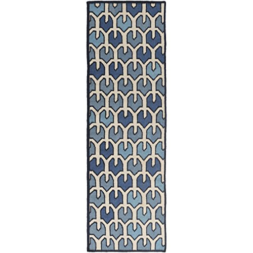 Surya AMD1072-268 Hand Woven Geometric Runner Rug, 2-Feet 6-Inch by 8-Feet, Salmon/Beige/Light Gray/Charcoal - 8' Runner Salmon