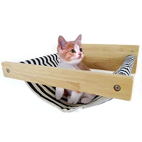 Amazon.com: TINTON LIFE - Hamaca de madera para gato, cama ...