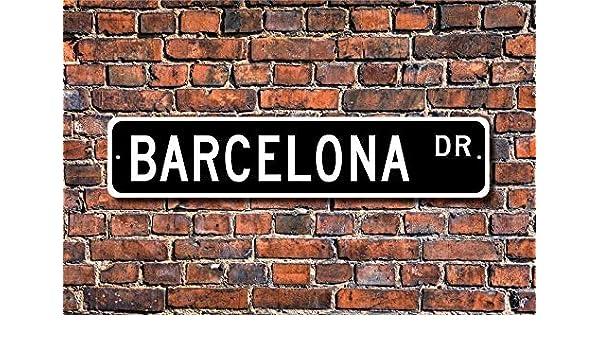 YelenaSign Cartel de Metal para la Calle de Barcelona, de 4 x 16 ...