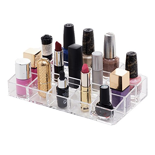 Choice Fun Acrylic Nail Polish Holder Makeup Organizer with 15 Lattices