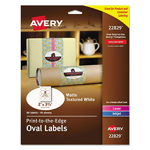 Avery 22829 Oval Labels, 2