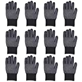 Top Unisex Stretch Magic Stretch Gripper Glove Wholesale lot 12 Pairs Black #FSAS