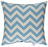 Glenna Jean North Country Pillow, Blue/Grey Chevron