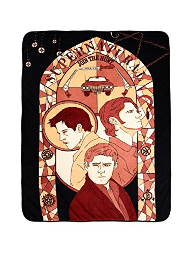 Supernatural Stained Glass Throw Blanket