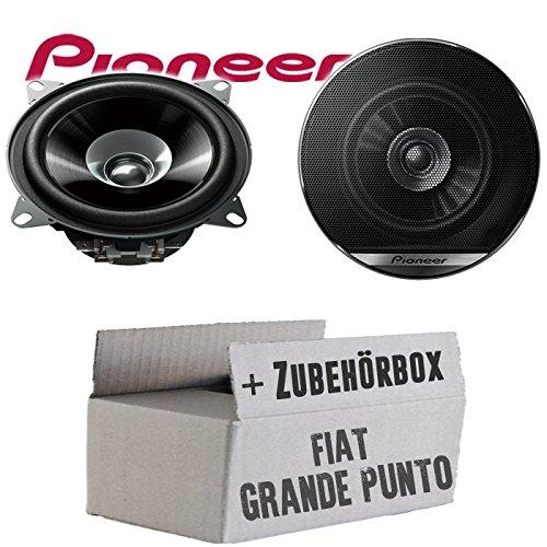 FIAT Grande Punto 199 Heck - Lautsprecher Boxen Pioneer TS-G1010F - 10cm Doppelkonus 100mm PKW KFZ Auto 190W Paar Einbausatz - Einbauset JUST SOUND best choice for caraudio FiGP_TS-G1010F