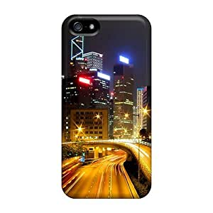 Excellent Design Hong Kong City Nights Hd Case Cover For Iphone 5/5s