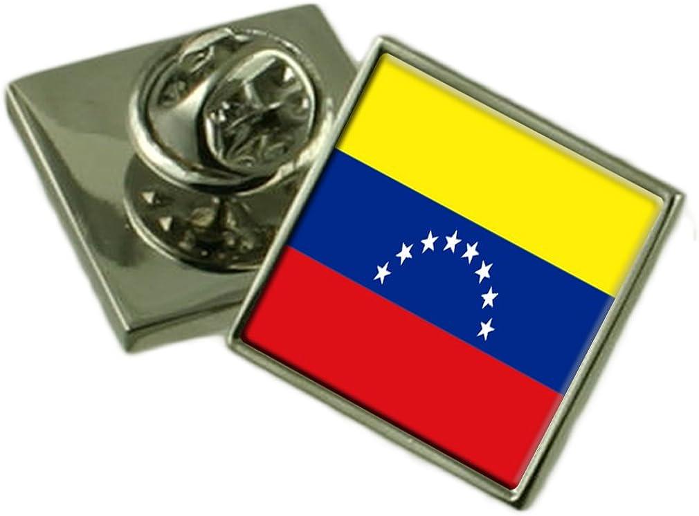 Venezuela Lapel Pin Badge Engraved Personalised Box