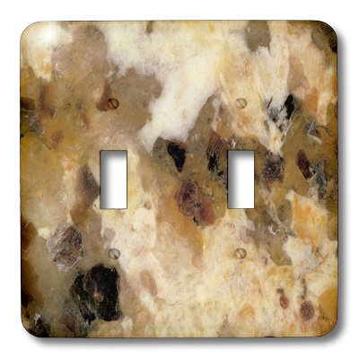 3dRose LLC lsp_100989_2 Cream Gold N Brown Italian Marble Double Toggle Switch