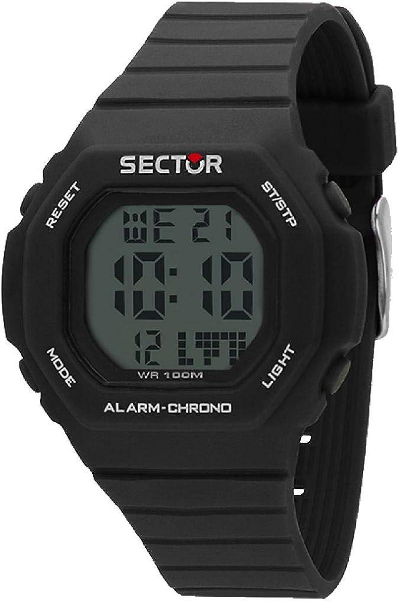 SECTOR Reloj Hombre de Digital con Correa en Silicona R3251599001
