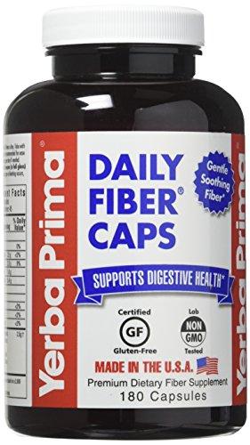 Daily Fiber Caps By Yerba Prima - 180 Cap, 3 Pack Daily Dietary Fiber