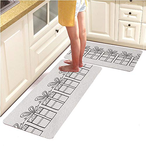 Page Alphabet Pebbles (Rugs Runner Rug -Non Skid Carpet Entry Rugs Runners for Kitchen and Entryway,Decorative Gift Boxes Black and White Illustration for Coloring Book Page 1 (15