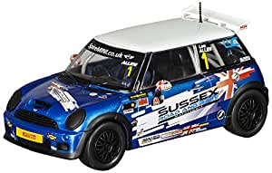 SuperSlot - BMW Mini Cooper S Sussex, coche slot (Hornby S3528)