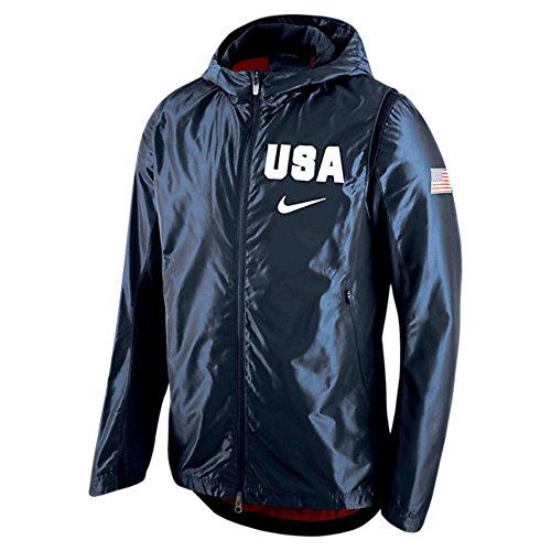 Nike USA Basketball Hooded Hyper Elite Jacket - Men's NAVY (S)