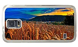 Hipster Samsung Galaxy S5 Case pretty cases wheat field evening PC Transparent for Samsung S5