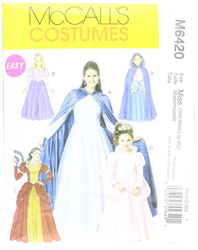 Mccalls Costume Patterns Medieval (McCall's Patterns M6420 Misses'/Children's/Girls' Costumes, Size MISS (SML-MED-LRG))