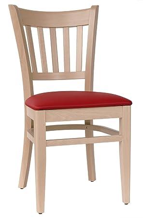Abritus Set 2 Stühle Stuhl Esszimmerstuhl Buche Massiv Natur Polster