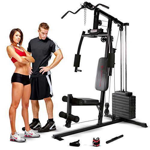 Marcy Club MKM-1101 Home Multi Gym 54 kg Stack - Black, One Size