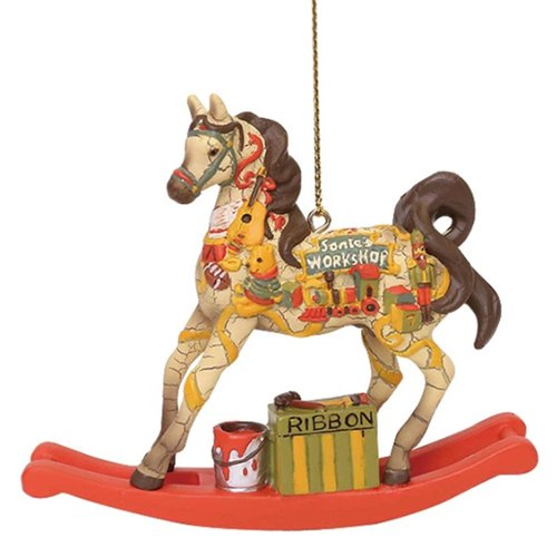 (Enesco Trail of Painted Ponies Santa's Workshop Ornament)