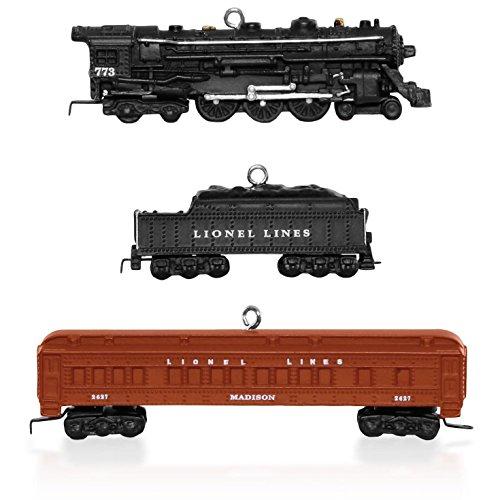 Lionel 2148WS Deluxe Pullman Set of Mini Train Ornaments 2015 Hallmark