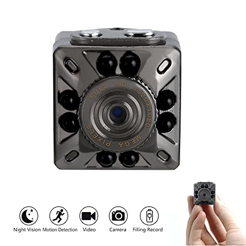 1080P Mini Camera UYIKOO Portable Full HD Small Body Cam with Night Vision, Motion Detection, Indoor/Outdoor Use