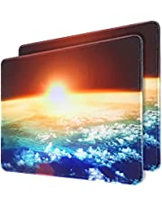 Mouse Pad 2-Pack, Gaming Mousepad 11.8x9.8in with Stitched Edge, QOMOLAMA Premium-Textured Water Resist Mouse Mat , Non-Slip Rubber Base Mouse Pads for Laptop,Computers, Gaming, Home, Office, Sunshine
