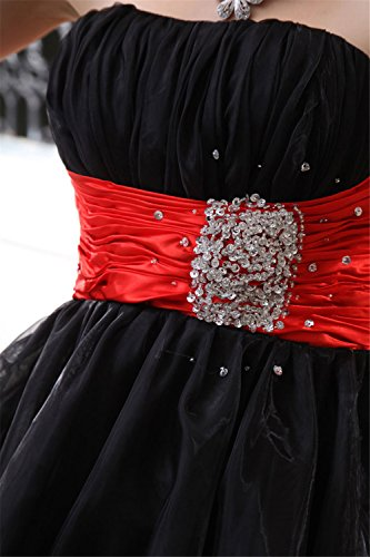 Gowns Short 018 anmor Party Sequin Tulle Dress black Women's Prom Homecoming 8xHSp
