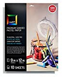 UART Sanded Pastel Paper M-160270 9-Inch/12-Inch No.240 Grade Paper, 10-Pack
