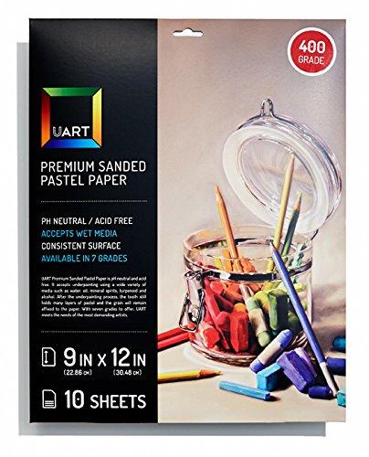 Uart Sanded Pastel Paper M-160270 9-Inch/12-Inch No.240 Grade Paper, 10-Pack by UART Sanded Pastel Paper