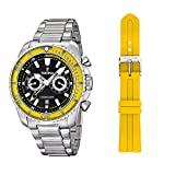 Festina F16564-X Mens Silver and Yellow Tour Of Britain 2014 Chronograph Watch
