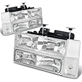 92 chevy 1500 hid headlights - Chevy/GMC C/K Series GMT400 Pre-facelift 8PC Chrome Housing Headlight+Bumper+Corner Lights Kit