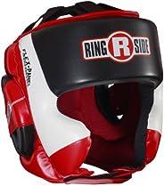 Ringside Ultra Light Sparring Headgear, Red/Black