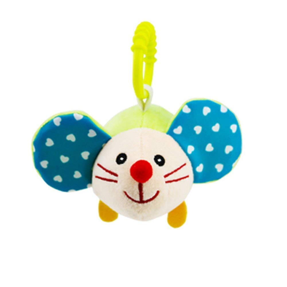 Hemore Baby Stroller Toys, Kids Hanging Toy for Crib Cute Travel Activity Plush Animal Toys Hamster Health Baby Care