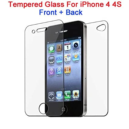 RSC POWER+ 0.3Mm Front and Back Tempered Glass for Apple iPhone 4 4C 4S Screen guards