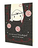 Night Owl Paper Goods Crazy Kitty Holiday Cards (10 Pack)