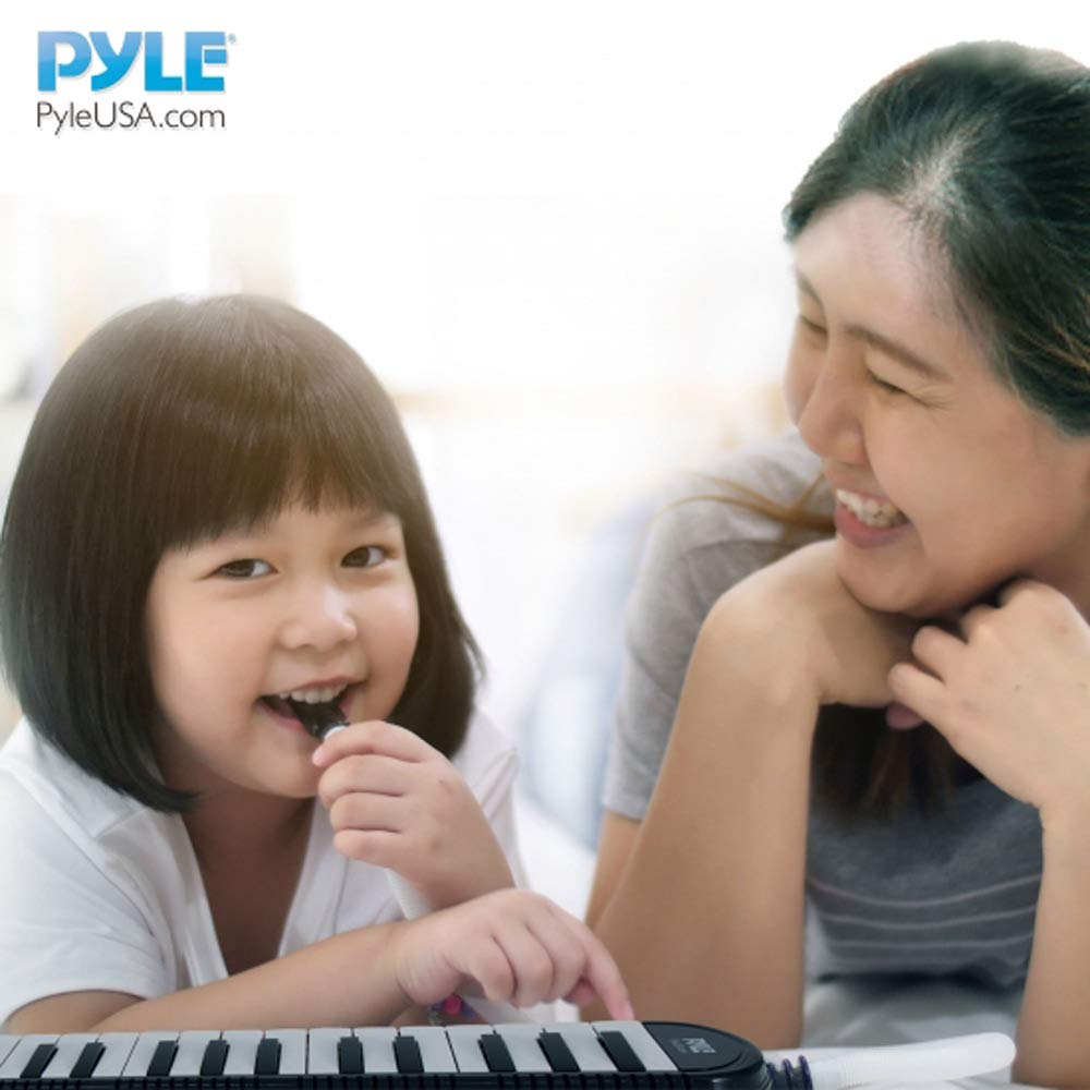 Professional Mouth Piano Melodica Instrument - Mouth Keyboard Piano Organ Melodica Set w/Mouthpiece, Tube Accessories, for Beginner or Band - Pyle (Black) by Pyle (Image #7)